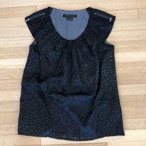 Cynthia Steffe blouse sz 4 NWOT black laser cut